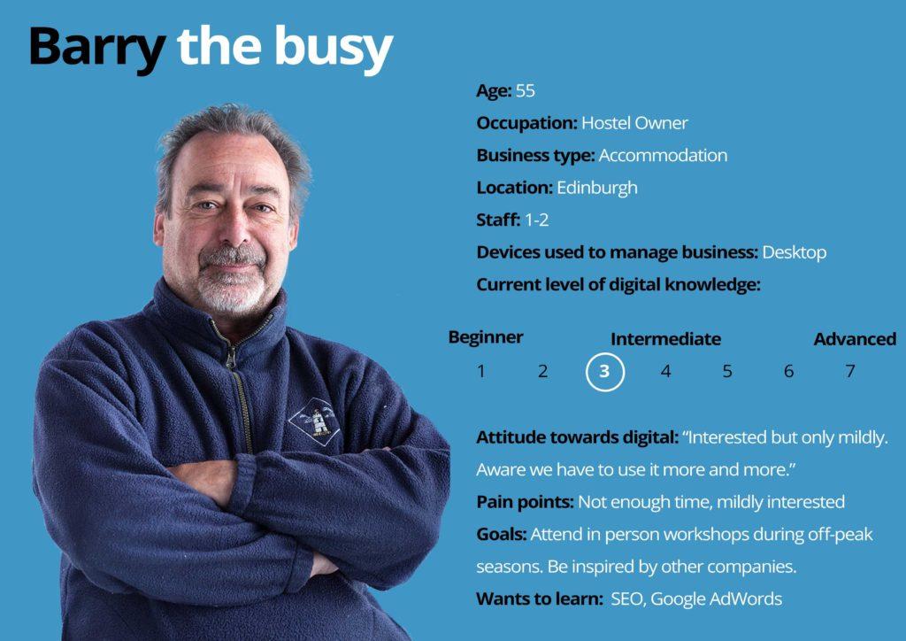 Digital Tourism Scotland Persona - Barry the busy